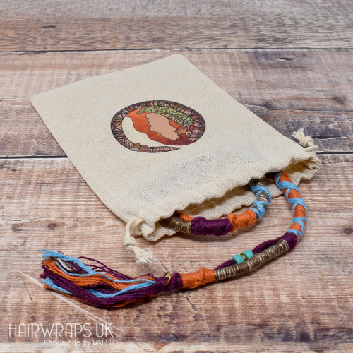 Cotton Hair Wrap Storage Bags