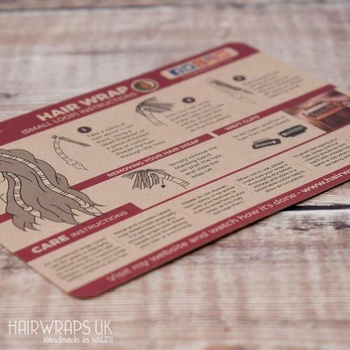 Hair Wrap Instructions (Hard Copy)