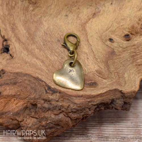 Tibetan Bronze Heart Charm.
