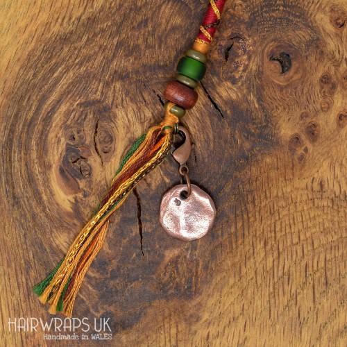 Rustic Copper Disc Charm.