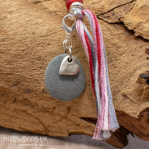Heart and Pebble Charm.