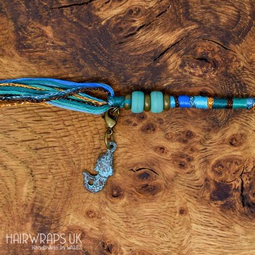 Copper Patina Mermaid Charm.