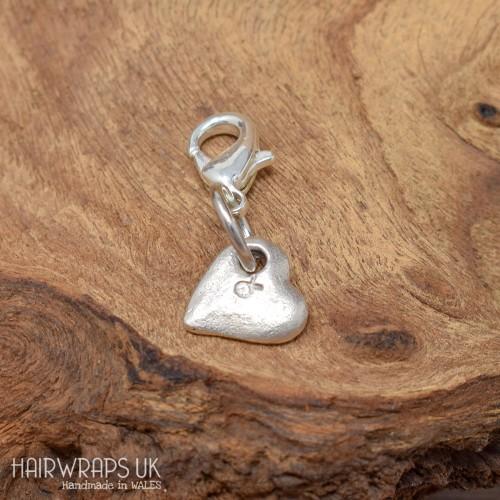 Tibetan Silver Heart Charm.