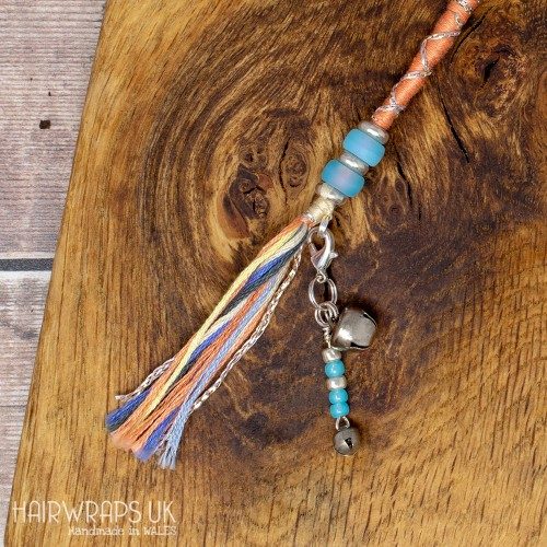 Bell and Turquoise Dangle Charm.