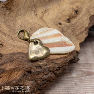 Shell and Heart Hair Charm.