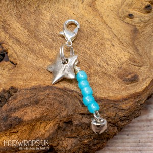 Star and Turquoise Dangle Charm.