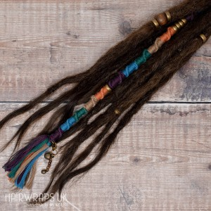 Vegan accent lock, Hair Wrap extension for Dreadlocks or natural hair – Kingfisher.