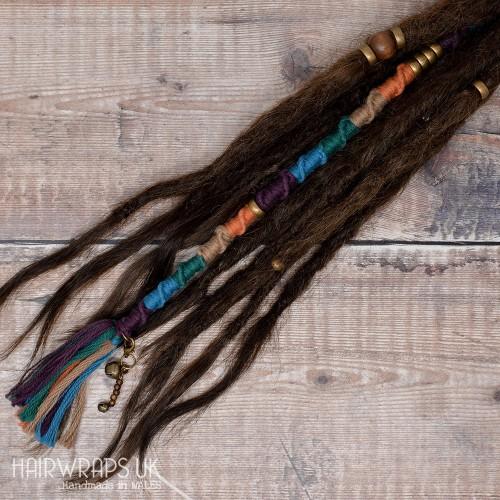 Vegan accent lock, Hair Wrap extension for Dreadlocks or natural hair – Kingfisher.