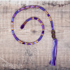 Removable Purple and Lilac Hair Wrap with Glass Beads – Bluebell.