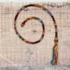 Removable Dark Rainbow Hair Wrap with Glass Beads - Rusty Rainbow.
