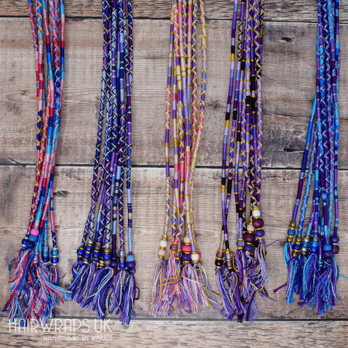 Wholesale Hair Wraps. Wooden / Glass / Metal Beads. Mixed colours and lengths. (Pack of 100)